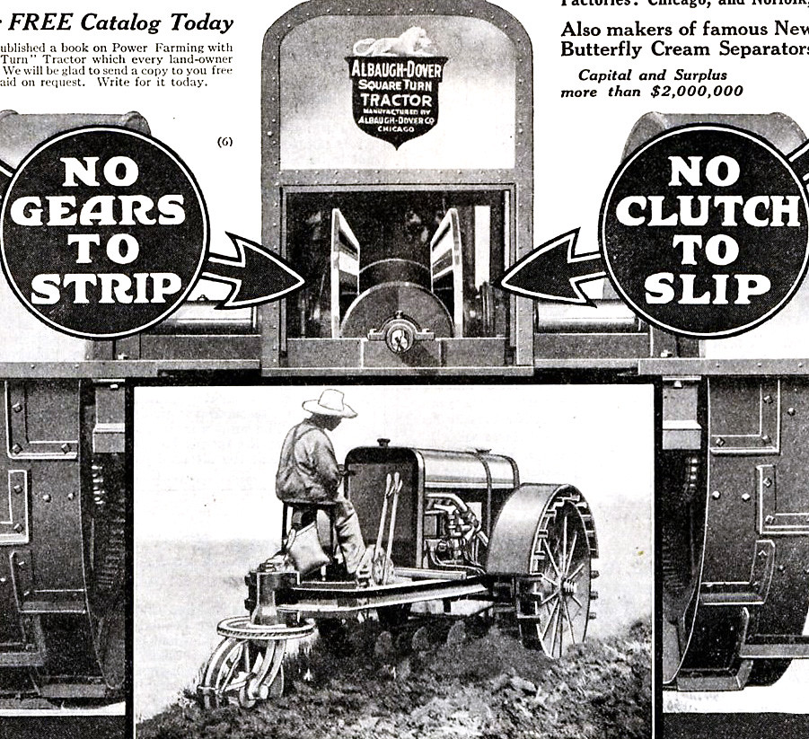1917 Albaugh-Dover Tractor | Advertised in the March 17, 191