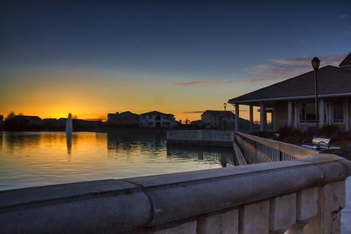 sunset reflection clouds boathouse westsacramentoca 20121229 20121230 pjm1 bridgewayslakescommunitypark pedromarenco