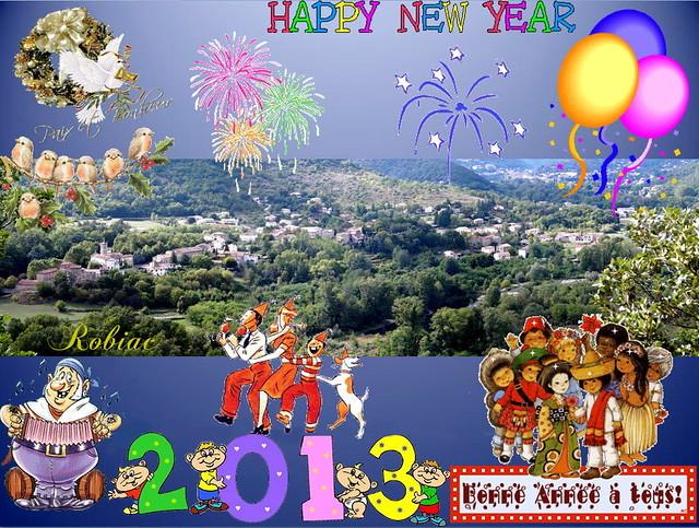 Bonne Année 2013 à tous les amis de FLICKR !