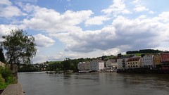 Пассау - слияние Дуная и Инна