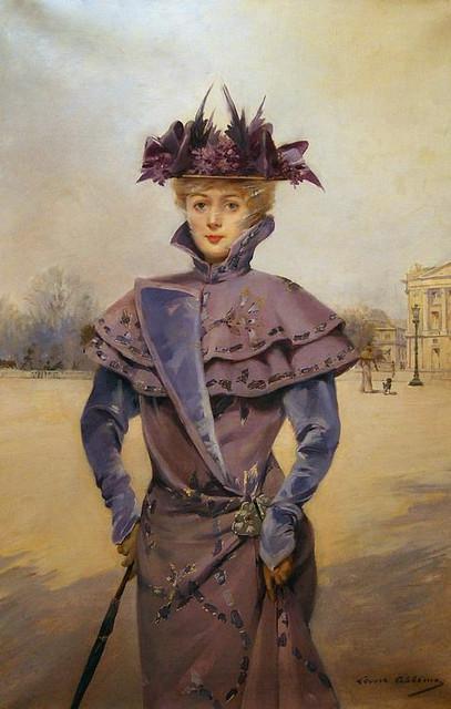 ABBEMA Louise,1894 - Elégante, Place de la Concorde (Carnavalet) - 0