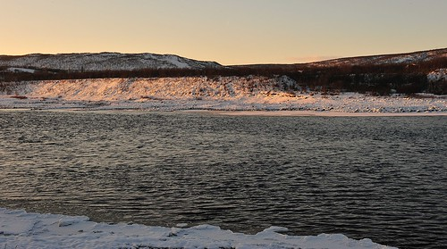 winter sunset river nikon arctic gps nikkor tana nordnorge finnmark elv gp1 varanger