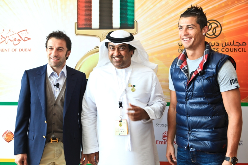 Del Piero, Kamali and Ronaldo