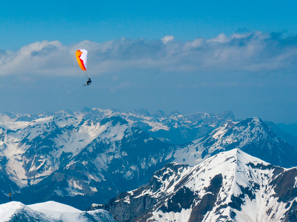 Image result for Paragliding in the Alps, Switzerland