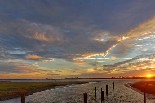 sunset ostfriesland dalben sieltief oldersum dezember2012