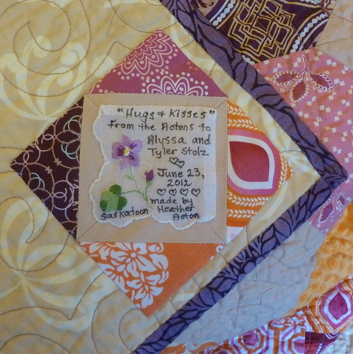 Hugs & Kisses Quilt for Alyssa & Tyler | by peace.love.quilt