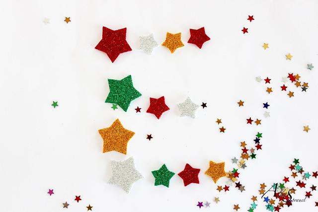 Lettre e comme étoiles