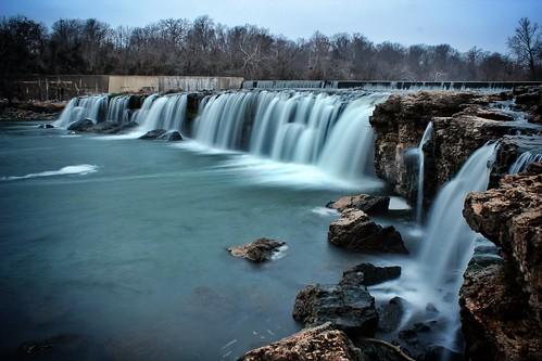 nature water waterfall missouri joplin grandfalls