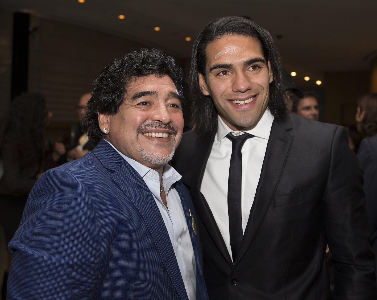 Diego Armando Maradona and Radamel Falcao