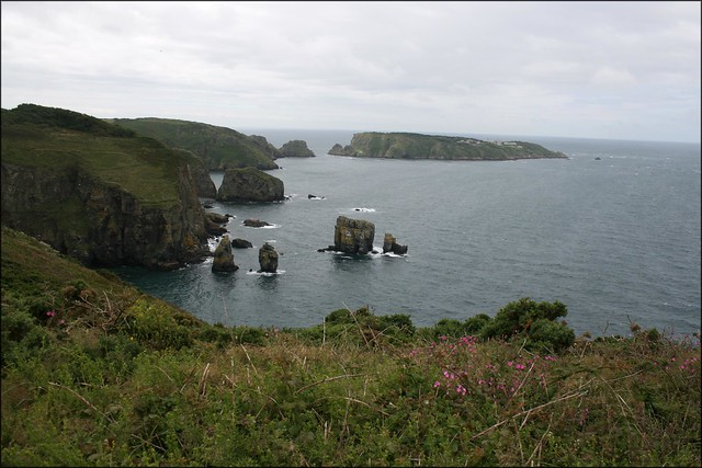 View south to Brecqhou from Sark