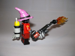 TF2 Team Fortress 2 Lego Pyro view 4   The Pyro, sporting th