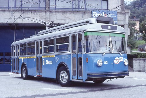 1999-10, Lugano, Dépôt, Trolleybus 112