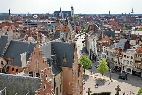 europa post belgie sony antwerpen mechelen sintromboutstoren sintromboutskathedraal onzelievevrouwkerk ijzerenleen