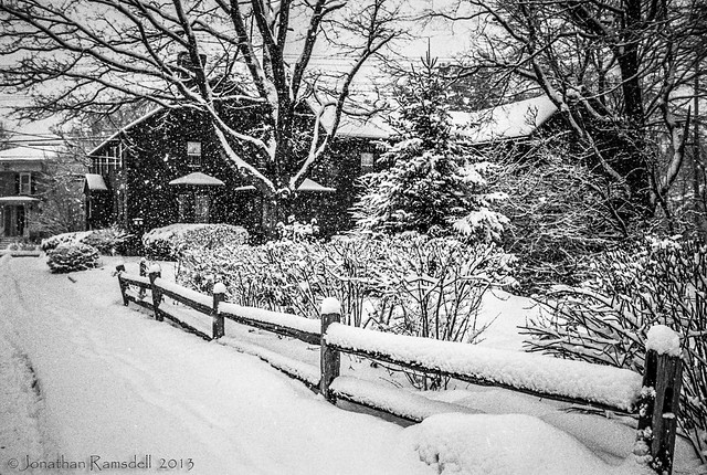 Another House on Cross Street in Snow