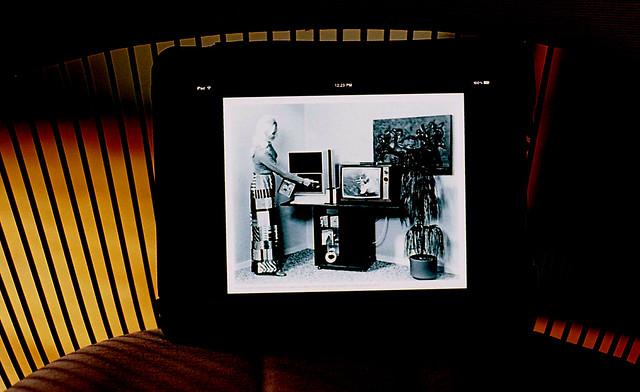 ipad / 1970's / fashion / tv / video recording equipment