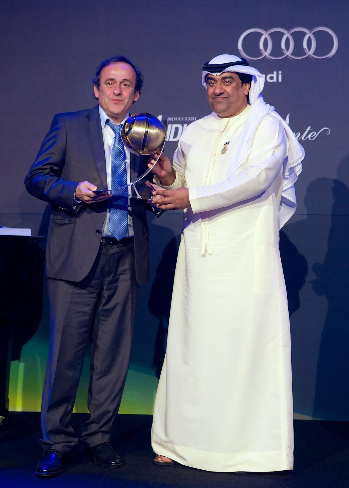 Michel Platini and Mohamad Al Kamali