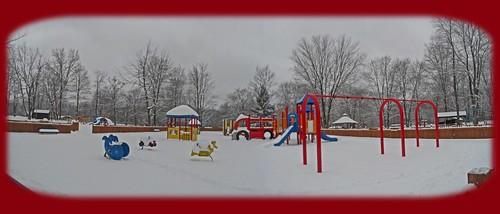 park winter panorama snow playground slide panoramic gazebo pearson pearsonpark