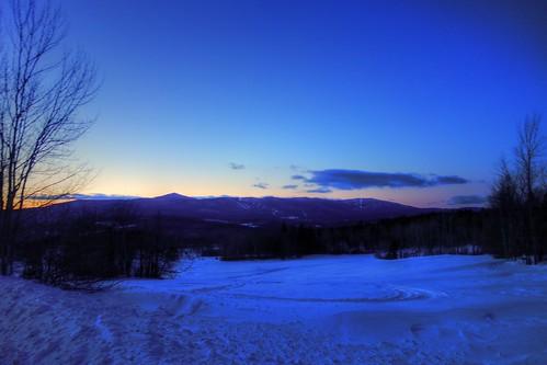 sunset vermont mountsnow
