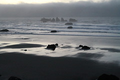 Sunset on Bandon beach