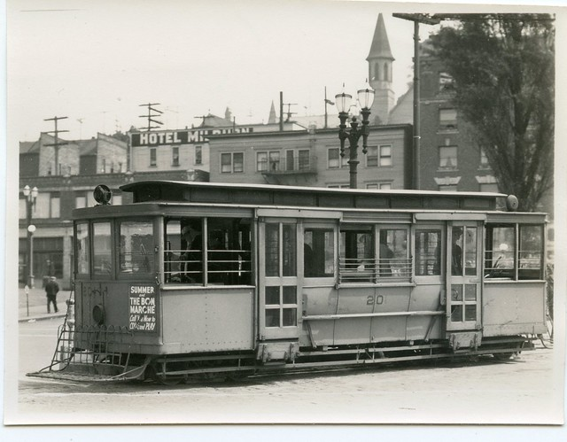Yesler Cable Car #20, 3rd and Yesler, Seattle, 1940