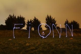 Fionn Light Writing - Pic Of The Day 18.1.13   by Jordan Ballantine