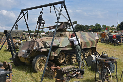 German Half Track receives some attention