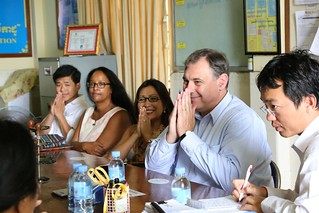 U.S. Ambassador William Heidt meets with civil society representatives during a visit to Svay Rieng. | by USEmbassyPhnomPenh