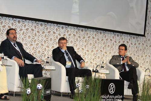 Giovanni Branchini, Pietro Lo Monaco and Fabio Capello