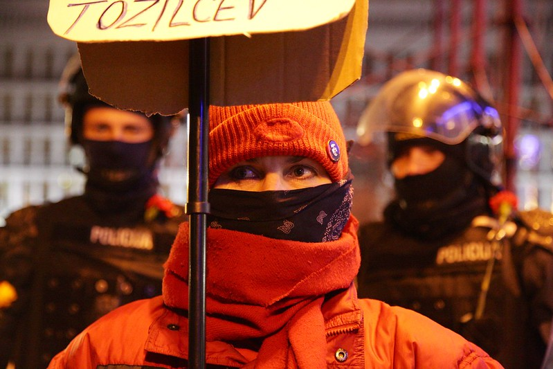 Masked #ljprotest #gotofje