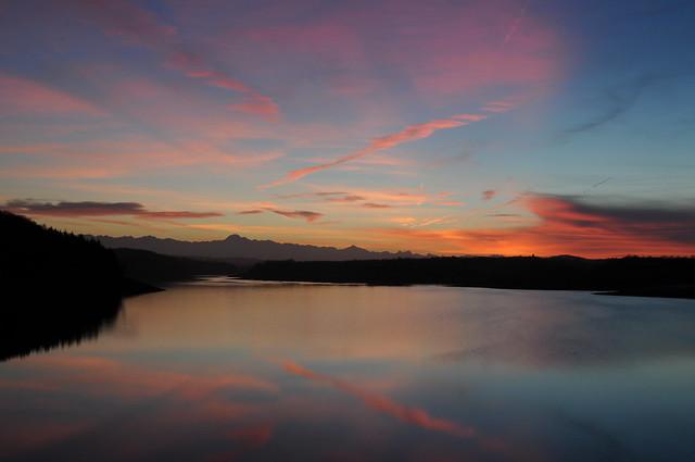 Coucher de soleil au Lac de l'Astarac II