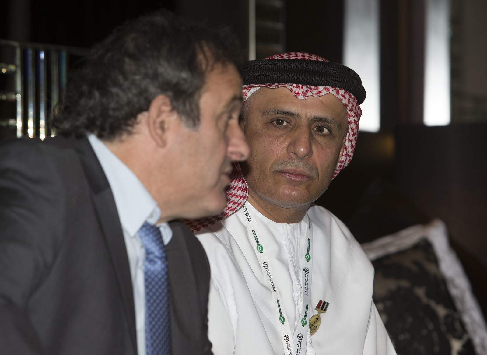 Michel Platini and Mattar Al Tayer