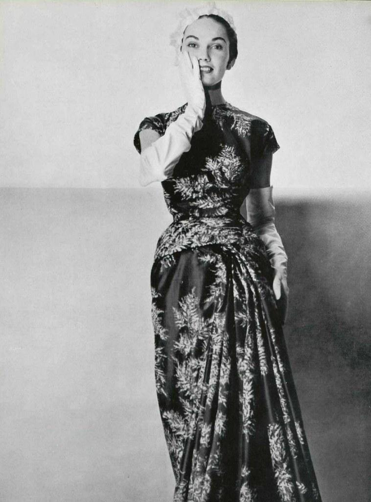 robe d'après-midi 1953