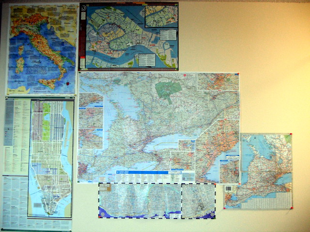 map wall / wall o' maps