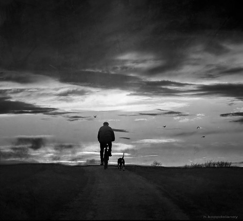 Cyclist with Dog | by h.koppdelaney