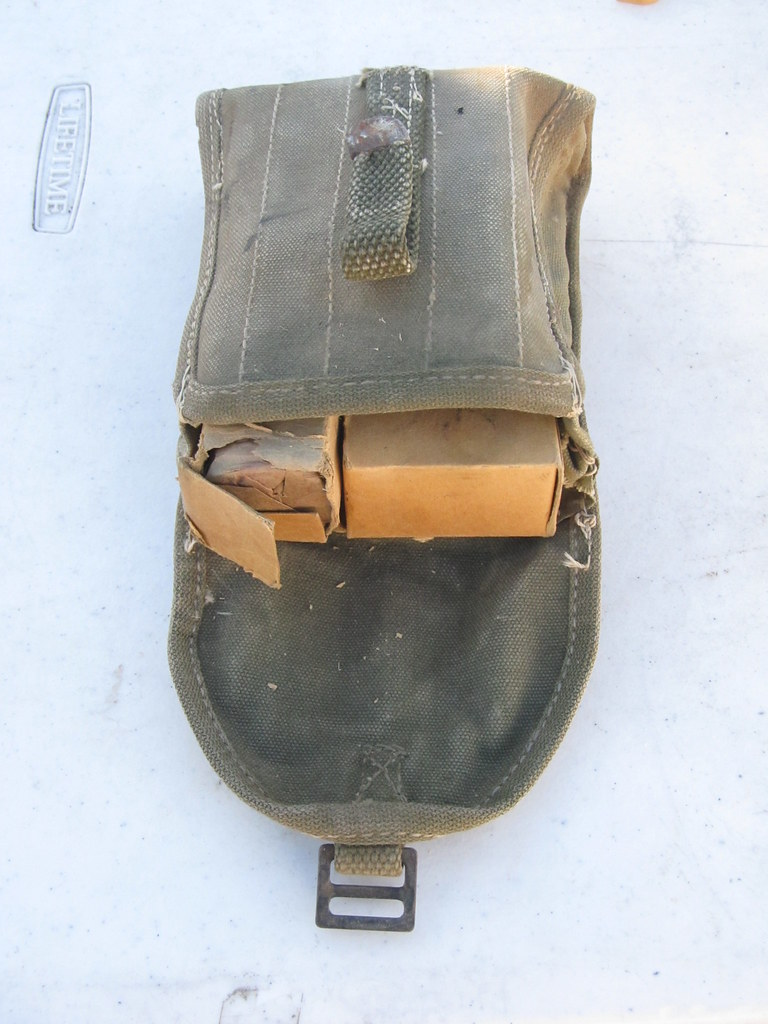 A really cool antique military first aid kit with original