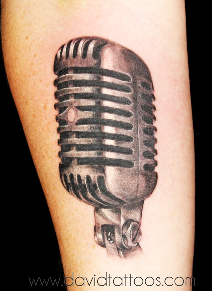 Vintage Microphone Tattoo Painting By Cassandra Frances T Flickr