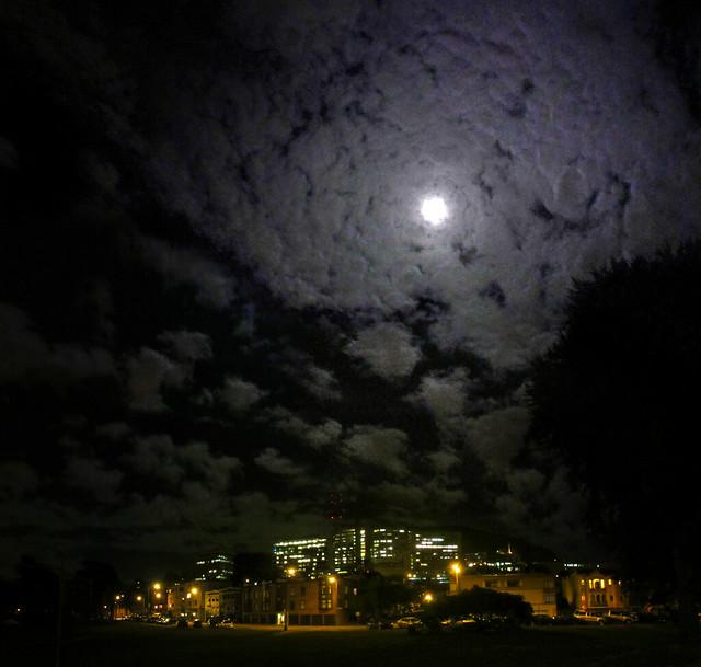 Moon over Kezar Triangle, 2013