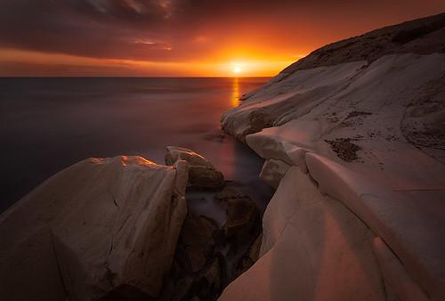 longexposure sunset sea sun clouds nikon rocks cyprus wb limassol 1635 ndfilter d700 alamanos