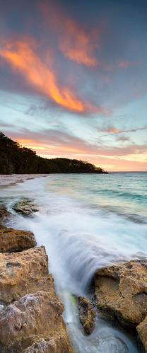 longexposure sunset sky panorama colour beach water beautiful yellow geotagged flow movement action vivid nsw 24mm tse jervisbay murraysbeach tiltshift vertorama geo:lat=3512585166319898 geo:lon=15076164722442627