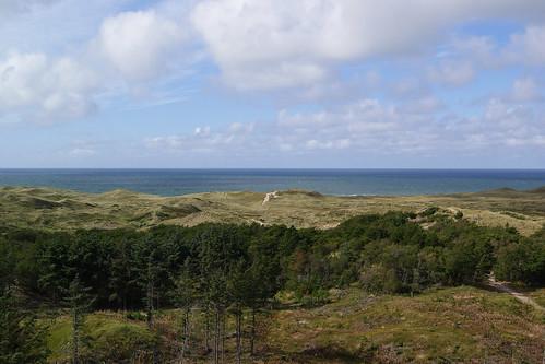 thy jylland danmark lodbjerg fyr lighthouse fyrtårn hav sea vesterhavet northsea moor hede klitter dune nature sky cloud natur reservat