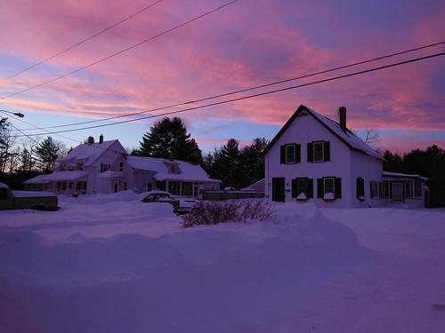 pink sunset snow storm nikon nemo snowstorm newhampshire coolpix blizzard penacook s9200