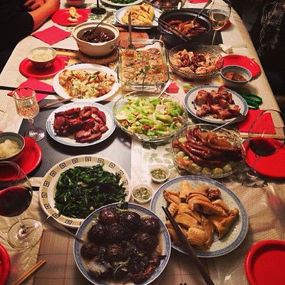 Chinese New Year feast #latergram #nomnomnom