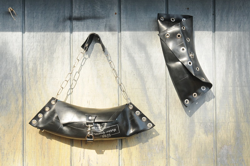 Bags on a wire