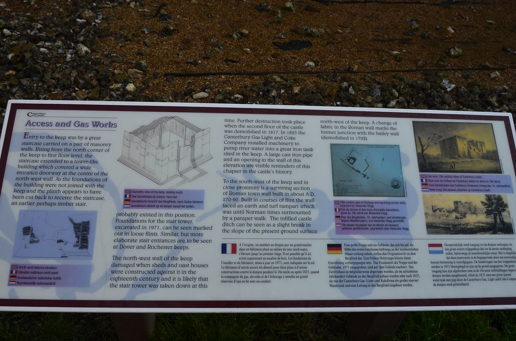 Canterbury - Castle Access & Gas Works Historical Informat