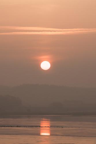 sea ice sunrise sweden