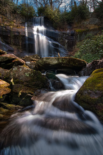 forest waterfall branch falls national cherokee skyway cherahala cherohala