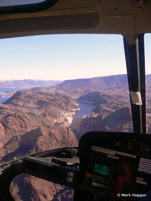 Lake Mead and the Hoover Dam from our helicopter