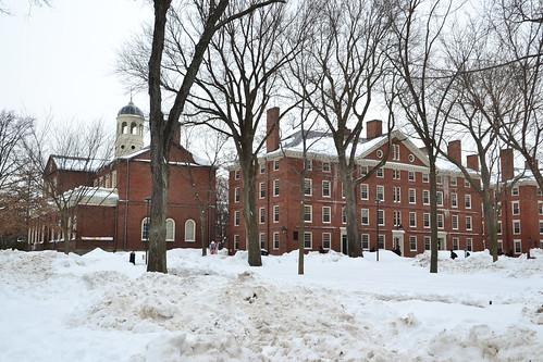 圖9.冬天裡被大雪覆蓋的校園。