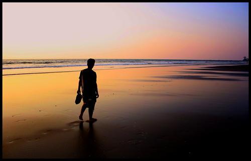 life sunset people beach silhouette canon landscape goa morjim 1000d