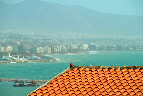 blue sea colors daylight ruins waves roofs greece slideshow oldhouses phototrip pireus bighugelabs